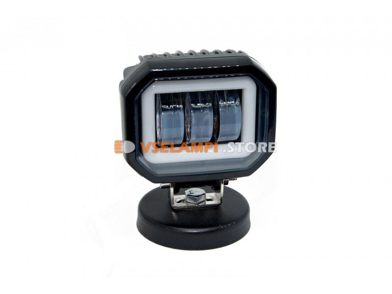 Прожектор 9-32V 30W 3SMD 90x75mm ближний, ДХО