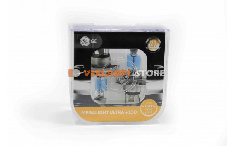 Галогенные лампы General Electric MEGALIGHT ULTRA +150% света комплект 2шт.