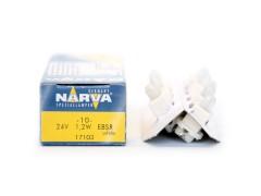 Авто-лампочка Narva White (EBS-R 1.25 FR) W1.2W BAX (B8.0-12), 24v, 1.2w, желтый