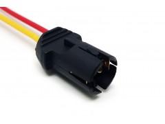 Патрон под лампу W5W (Т10 тип 8) с проводами, пластик TM Nord YADA