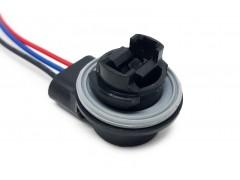 Патрон под лампу P27/7W (3157 двухконт.) с проводами, пластик TM Nord YADA