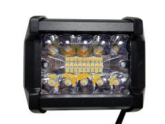 Прожектор квадратный 9-30V 60W 20SMD 96x75mm дальний (двухцветный)