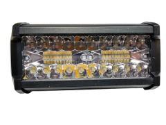 Прожектор прямоугольный 9-30V 120W 40SMD 165x75mm двухцветный дальний