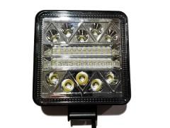 Прожектор квадратный 9-30V 117W 39SMD 107x107mm комбинированный