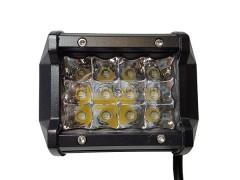 Прожектор квадратный 9-30V 36W 12SMD 100x75mm дальний