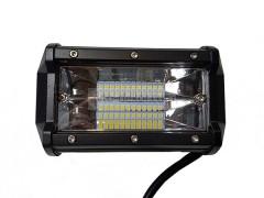 Прожектор прямоугольный 9-30V 72W 24SMD 130x75mm дальний