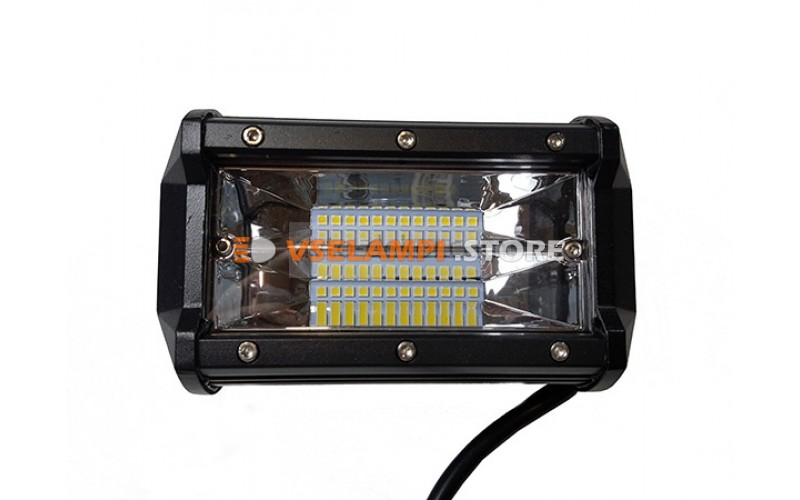 Прожектор квадратный 9-30V 72W 24SMD 130x75mm дальний