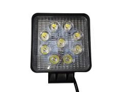 Прожектор квадратный 9-30V 27W 9SMD 105x105mm дальний