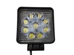 Прожектор квадратный 9-30V 27W 9SMD 105x105mm