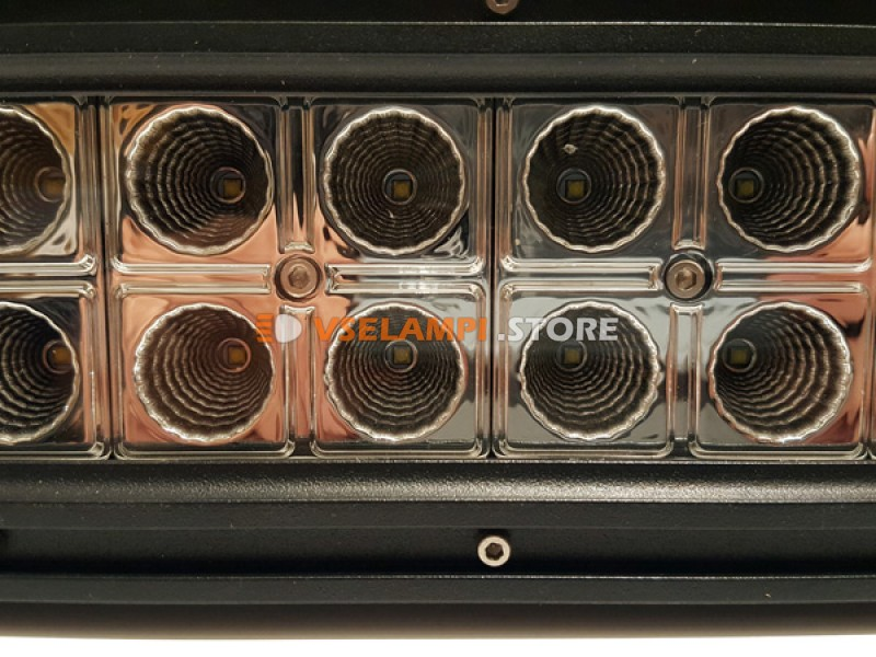 Прожектор боковой кронштейн 9-30V 72W 24SMD 340x81mm - тип свечения дальний