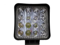 Прожектор квадратный 9-30V 48W 16SMD 105x105mm