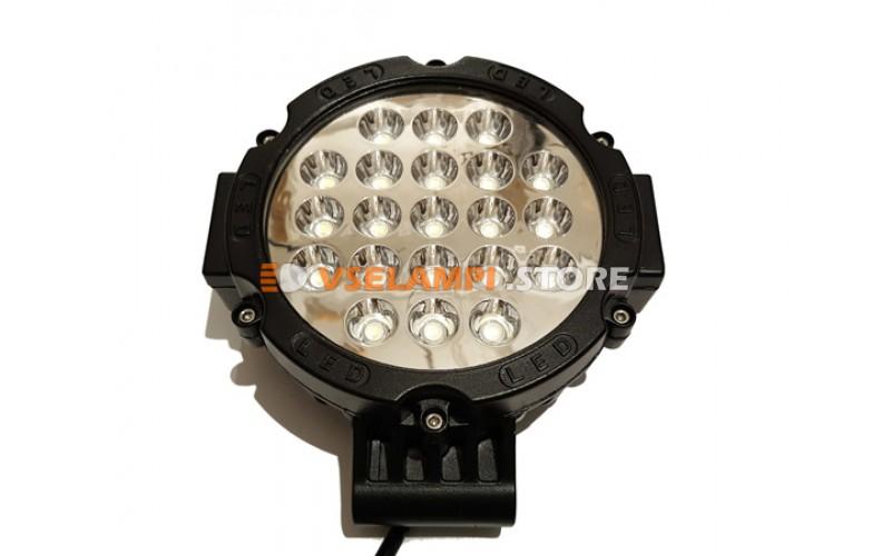Прожектор круглый 9-30V 63W 21SMD 145x145mm дальний