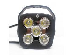 Прожектор квадратные 9-30V 50W 5SMD 110x110mm дальний