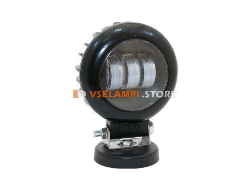 Прожектор 9-32V 30W 3SMD круглая 110x110mm дальний