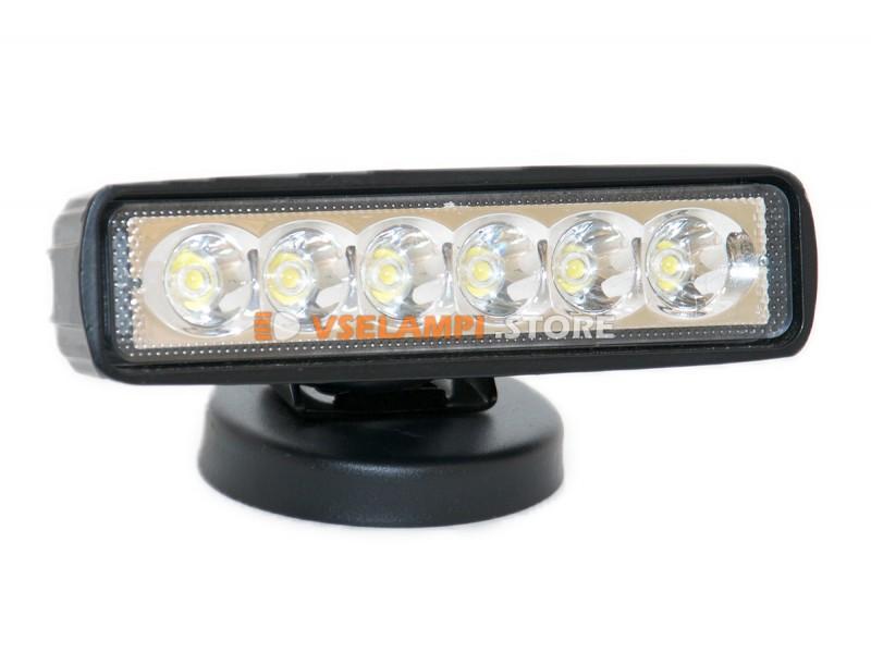 Прожектор 9-32V 18W 6SMD 160x45mm - тип свечения ближний