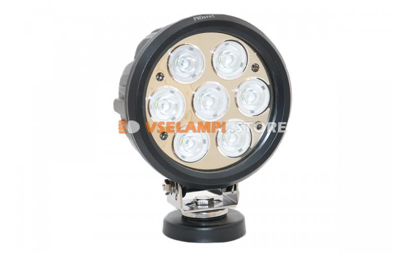 Прожектор 9-32V 70W 7SMD круглая 160x160mm дальний