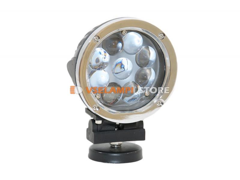 Прожектор 9-32V 45W 9SMD круглая 140x140mm дальний