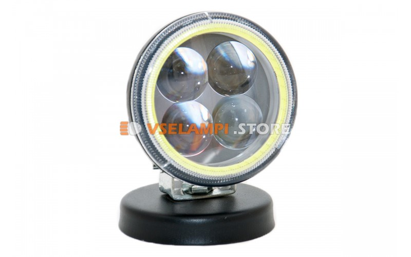 Прожектор 9-32V 12W 4SMD круглая 80x80mm ближний, ДХО