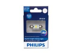 Светодиод PHILIPS X-tremeUltinon LED 12v T11x38 6000k (1шт.)