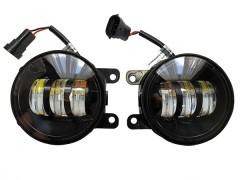 LED фары противотуманные AVTODECOR на LADA VESTA, 30W, 2 режима, Б/Ж, 2 шт.