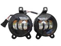 LED фары противотуманные AVTODECOR на LADA Priora, 30W, 2 режима, Б/Ж, 2 шт.