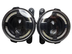 LED фары противотуманные AVTODECOR универсальные c ДХО, 10-30V, 30W, 2 шт.