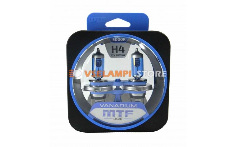 Галогенные лампы MTF - Vanadium комплект 2шт. - цоколь H4