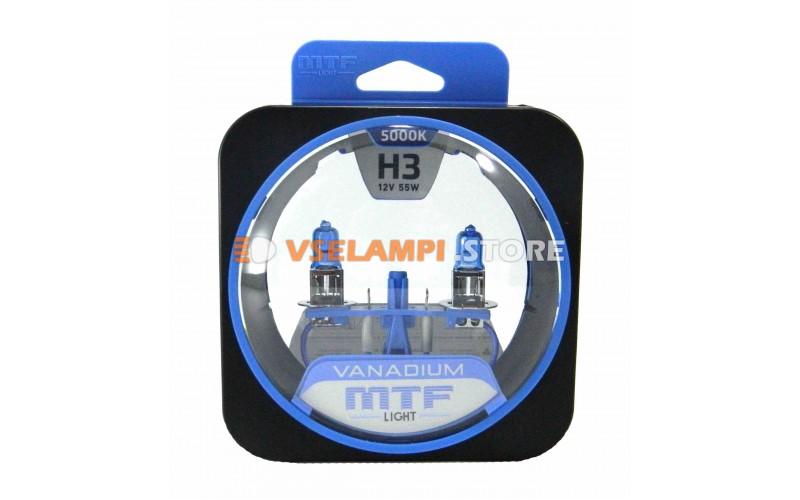 Галогенные лампы MTF - Vanadium комплект 2шт. - цоколь H3