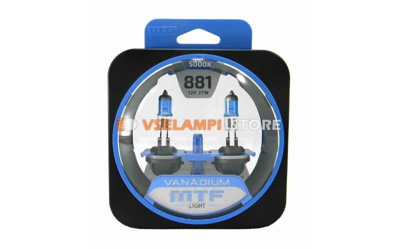 Галогенные лампы MTF - Vanadium комплект 2шт. - цоколь H27/2