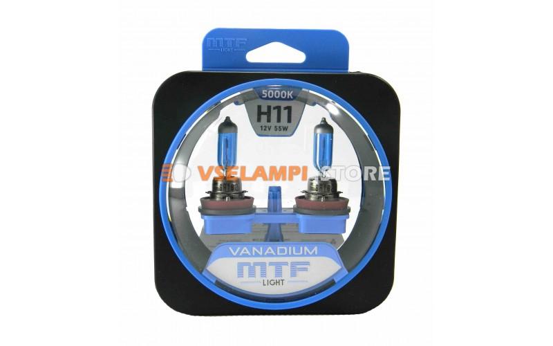 Галогенные лампы MTF - Vanadium комплект 2шт. - цоколь H11