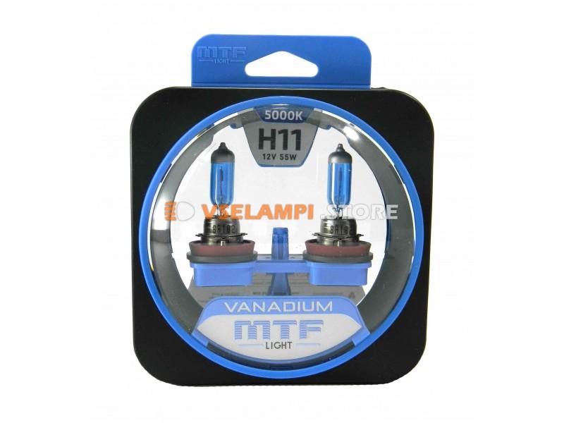 Галогенные лампы MTF - Vanadium комплект 2шт. - цоколь H27/1