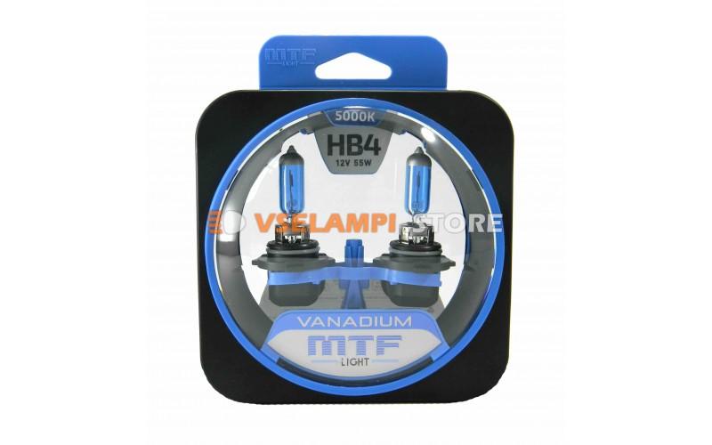 Галогенные лампы MTF - Vanadium комплект 2шт. - цоколь HB4