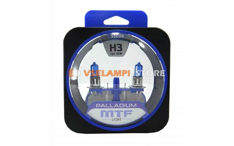 Галогенные лампы MTF - Palladium комплект 2шт. - цоколь H3