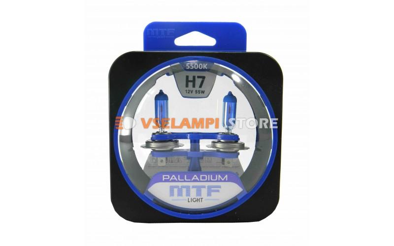 Галогенные лампы MTF - Palladium комплект 2шт. - цоколь H7