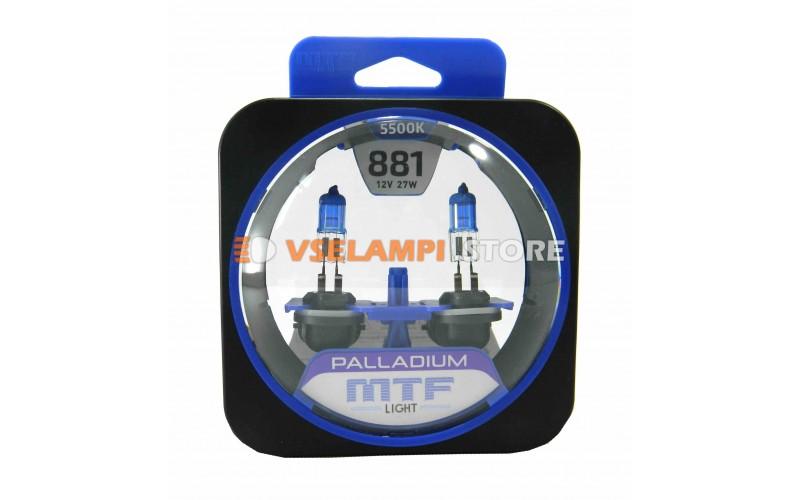 Галогенные лампы MTF - Palladium комплект 2шт. - цоколь H27/2