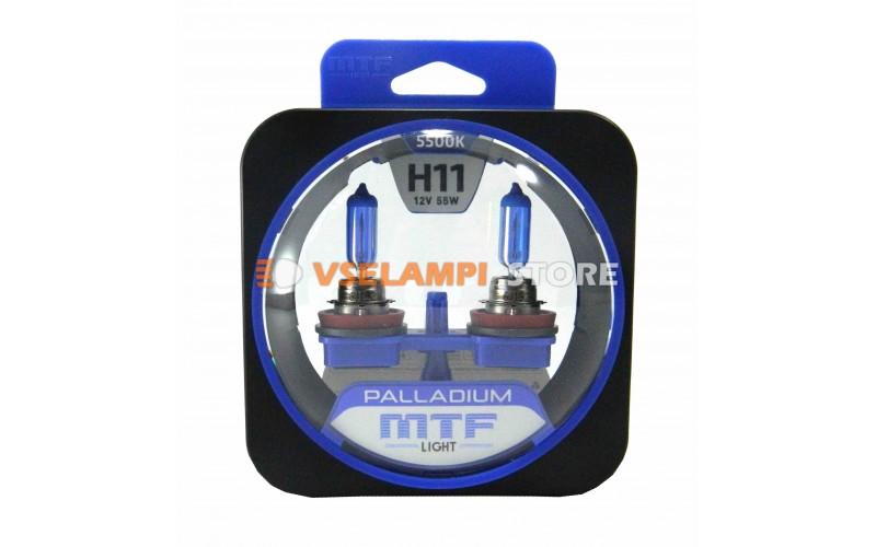 Галогенные лампы MTF - Palladium комплект 2шт. - цоколь H11