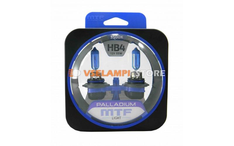 Галогенные лампы MTF - Palladium комплект 2шт. - цоколь HB4