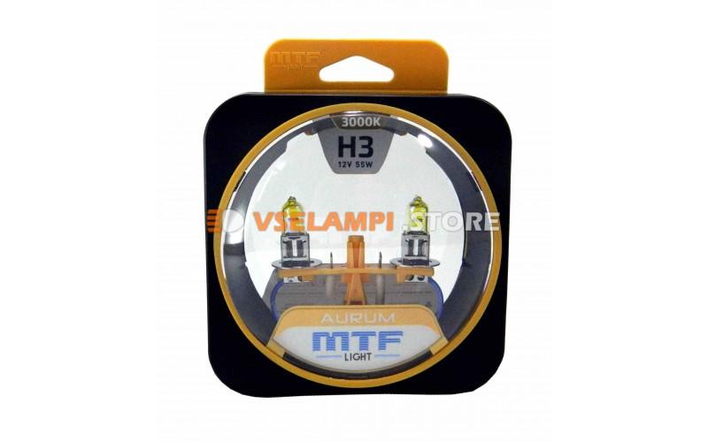 Галогенные лампы MTF - Aurum комплект 2шт. - цоколь H3