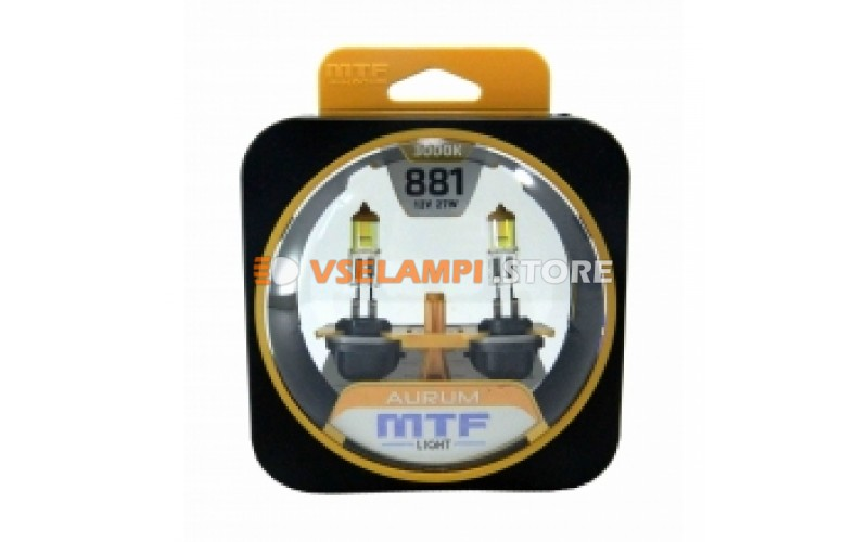Галогенные лампы MTF - Aurum комплект 2шт. - цоколь H27/2