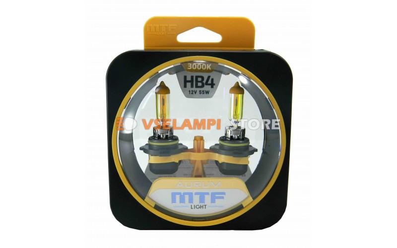 Галогенные лампы MTF - Aurum комплект 2шт. - цоколь HB4