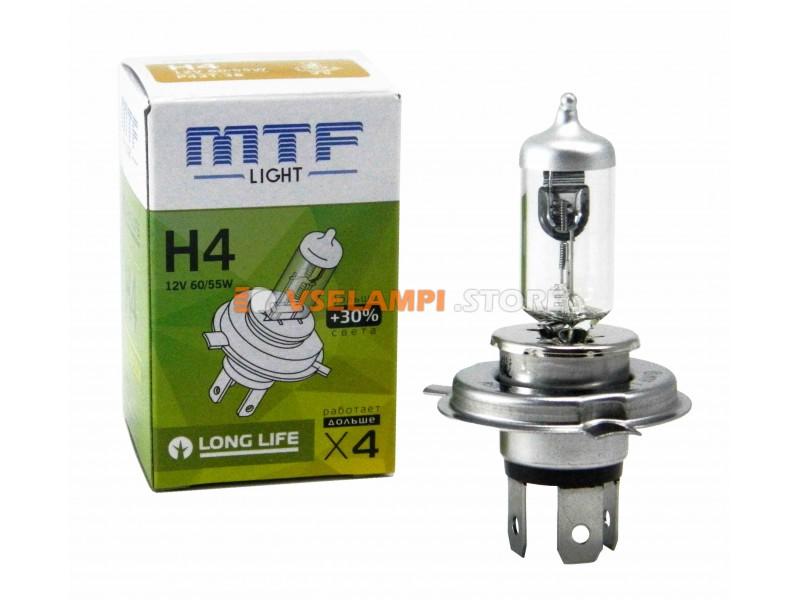 Галогеновая авто-лампа MTF Light +30%, 2900K, 12v, 19-65w, цвет желтый, 1шт. - цоколь HB4