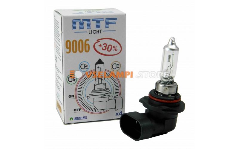 Галогеновая авто-лампа MTF Light +30%, 2900K, 12v, 19-65w, цвет желтый, 1шт.