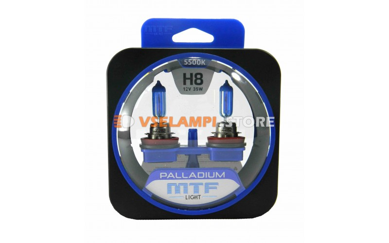Галогенные лампы MTF - Palladium комплект 2шт. - цоколь H8