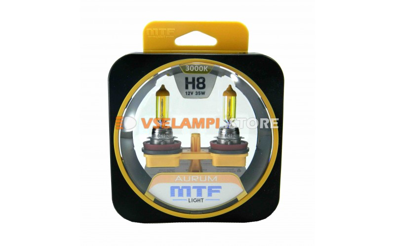 Галогенные лампы MTF - Aurum комплект 2шт. - цоколь H8