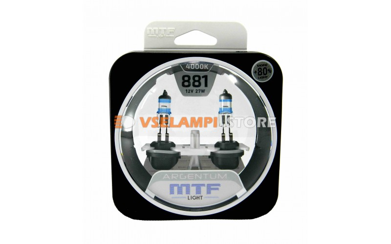 Галогенные лампы MTF - Argentum +80% комплект 2шт. - цоколь H27/2
