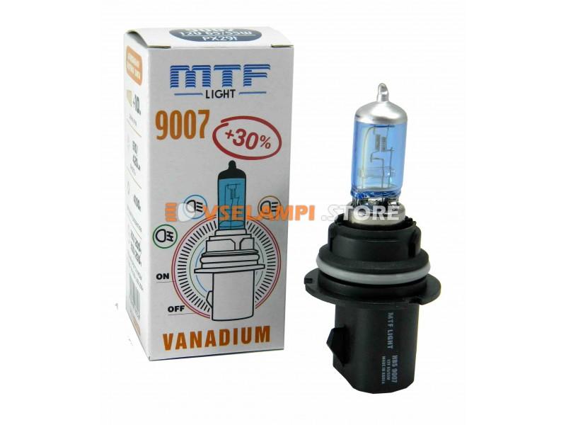 Галогеновая авто-лампа MTF Light +30%, 2900K, 12v, 19-65w, цвет желтый, 1шт. - цоколь H27/2