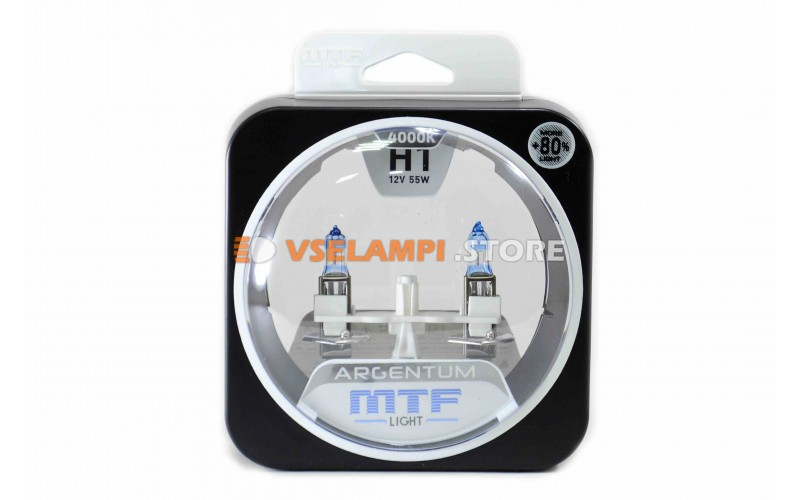 Галогенные лампы MTF - Argentum +80% комплект 2шт.