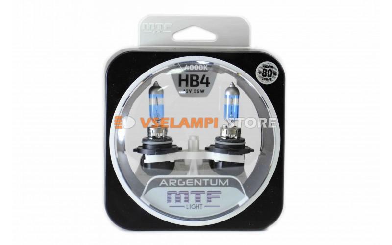 Галогенные лампы MTF - Argentum +80% комплект 2шт. - цоколь HB4