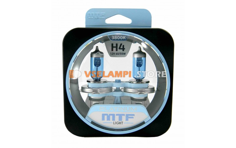 Галогенные лампы MTF - Platinum комплект 2шт. - цоколь H4