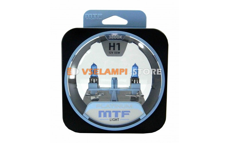 Галогенные лампы MTF - Platinum комплект 2шт. - цоколь H1